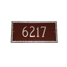 <strong>Montague Metal Products Inc.</strong> Jefferson Rectangle Address Plaque
