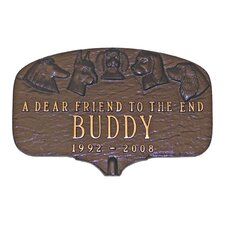 Dog Memorial Plaque
