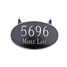 Two Sided Large Oval Hanging Address Plaque