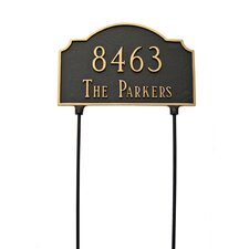 Vanderbilt Two Sided Lawn Address Plaque