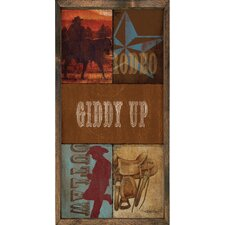Magnet Art Print Giddy Up Framed Wall Art