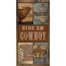 Magnet Art Print Ride 'Em Cowboy Framed Wall Art