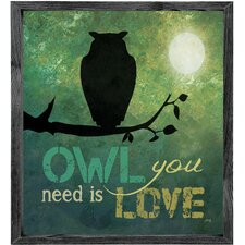 Magnet Art Print Owl You Need is Love Framed Wall Art