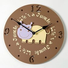 "<strong>Forest Creations</strong> 18"" Hippo Wall Clock"