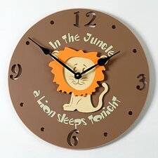 "<strong>Forest Creations</strong> 18"" Lion Wall Clock"