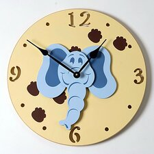 "18"" Elephant Head Wall Clock"