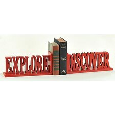 Explore Discover Book Ends (Set of 2)