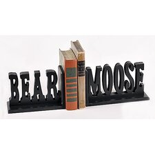<strong>Forest Creations</strong> Bear Moose Book Ends (Set of 2)