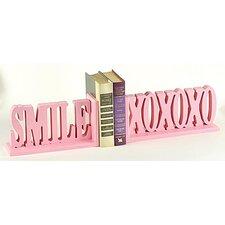 Smile XOXOXO Book Ends (Set of 2)