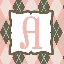 Girl's Argyle Alphabet Canvas