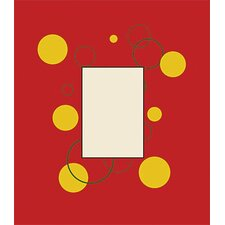 Red, Green Bubbles Canvas Frame