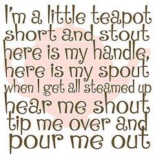 I'm a Little Teapot Kids Canvas Art
