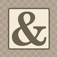 Home Diamond Monogram Graphic Art on Canvas