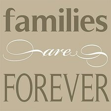 Families Are Forever Simplicity Canvas