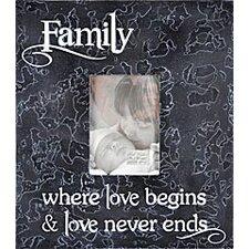 Family Where Love Begins... Home Frame