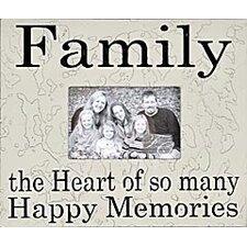 Family the Heart of So Many... Home Frame
