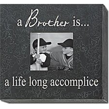 <strong>Forest Creations</strong> A Brother Is... A  Life Long Accomplice Home Frame