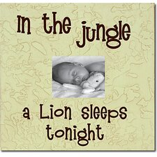 In the Jungle a Lion Sleeps Tonight Child Frame