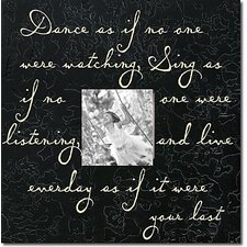Dance As If No One... Textured Memory Box
