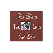 <strong>Forest Creations</strong> Two Hearts Two Lives One Love Home Frame
