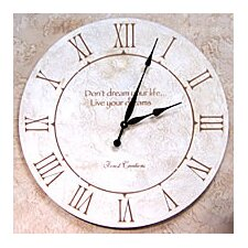 "<strong>Forest Creations</strong> 22"" Don't Dream Your Life, Live Your Dreams Wall Clock"