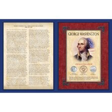 Famous Speech Series George Washington Wall Framed Memorabilia