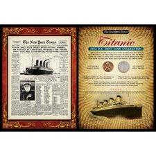 New York Times Titanic Portfolio Wall Framed Memorabilia