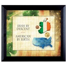 Irish By Descent Wall Framed Vintage Advertisement in Black
