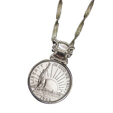 Liberty Commemorative Half Dollar Coin Pendant