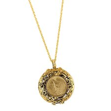 Mustard Seed Locket Angel Coin Pendant
