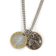Men's French Franc Lock and Key Necklace