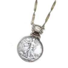 Walking Liberty Half Dollar Silvertone Bezel
