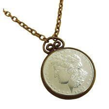 <strong>American Coin Treasures</strong> Morgan Dollar Replica Coppertone Pendant
