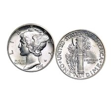 Mercury Dime Cuff Links