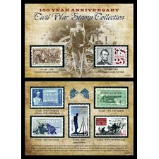 <strong>American Coin Treasures</strong> 150th Anniversary Civil War Commemorative Stamp Sleeve