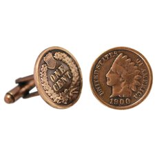 Indian Head Copper Cuff Links