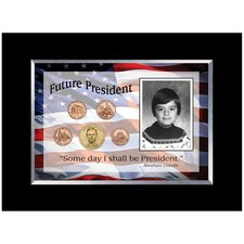 <strong>American Coin Treasures</strong> Future President 5 Coin Desk Frame