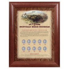 10 Years of Buffalo Nickels Wall Framed Memorabilia