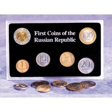 First Coins of the Russian Republic Display Case