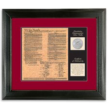 <strong>American Coin Treasures</strong> Birth of a Nation Constitution Wall Frame