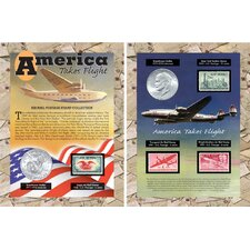America Takes Flight Coin and Stamp Sleeve