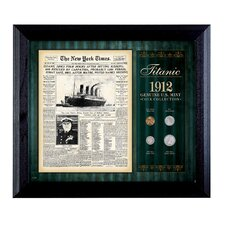 New York Times Titanic 1912 U.S. Mint Coin Wall Framed Memorabilia - 4 Coins