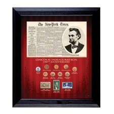 New York Times Lincoln Inauguration 150th Anniversary Wall Framed Memorabilia