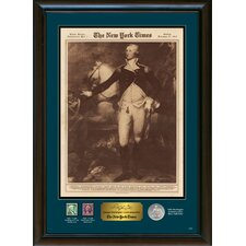 New York Times George Washington Commemorative Wall Framed Memorabilia