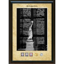 New York Times Liberty and the World Trade Center Wall Framed Memorabilia