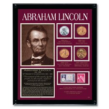 Lincoln Tribute Coin Wall Framed Memorabilia