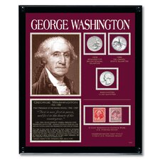 Washington Tribute Coin Wall Framed Memorabilia