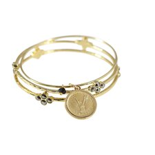 Angel Coin Bangle Bracelet