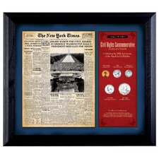 <strong>American Coin Treasures</strong> New York Times March For Civil Rights Collection Framed Coin Collection