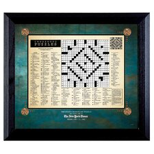 New York Times First Crossword Puzzle Framed Textual Art